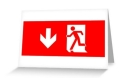 Running Man Fire Safety Exit Sign Emergency Evacuation Greeting Card 15