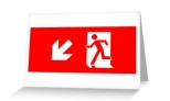 Running Man Fire Safety Exit Sign Emergency Evacuation Greeting Card 16