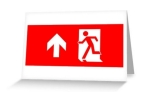 Running Man Fire Safety Exit Sign Emergency Evacuation Greeting Card 19
