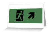 Running Man Fire Safety Exit Sign Emergency Evacuation Greeting Card 2
