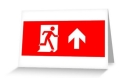Running Man Fire Safety Exit Sign Emergency Evacuation Greeting Card 22