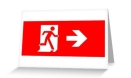 Running Man Fire Safety Exit Sign Emergency Evacuation Greeting Card 25