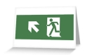 Running Man Fire Safety Exit Sign Emergency Evacuation Greeting Card 3