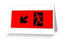 Running Man Fire Safety Exit Sign Emergency Evacuation Greeting Card 34