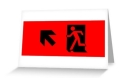 Running Man Fire Safety Exit Sign Emergency Evacuation Greeting Card 35