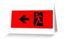 Running Man Fire Safety Exit Sign Emergency Evacuation Greeting Card 36