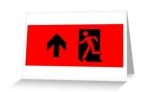 Running Man Fire Safety Exit Sign Emergency Evacuation Greeting Card 37