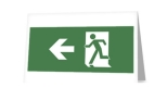 Running Man Fire Safety Exit Sign Emergency Evacuation Greeting Card 4