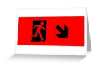 Running Man Fire Safety Exit Sign Emergency Evacuation Greeting Card 41