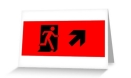 Running Man Fire Safety Exit Sign Emergency Evacuation Greeting Card 42