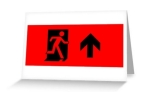 Running Man Fire Safety Exit Sign Emergency Evacuation Greeting Card 44