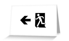 Running Man Fire Safety Exit Sign Emergency Evacuation Greeting Card 49