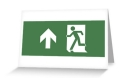 Running Man Fire Safety Exit Sign Emergency Evacuation Greeting Card 5