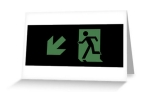 Running Man Fire Safety Exit Sign Emergency Evacuation Greeting Card 60