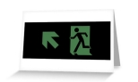 Running Man Fire Safety Exit Sign Emergency Evacuation Greeting Card 62