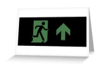 Running Man Fire Safety Exit Sign Emergency Evacuation Greeting Card 70