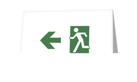 Running Man Fire Safety Exit Sign Emergency Evacuation Greeting Card 76