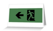 Running Man Fire Safety Exit Sign Emergency Evacuation Greeting Card 83