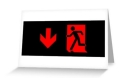 Running Man Fire Safety Exit Sign Emergency Evacuation Greeting Card 86