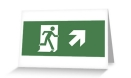 Running Man Fire Safety Exit Sign Emergency Evacuation Greeting Card 9