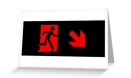 Running Man Fire Safety Exit Sign Emergency Evacuation Greeting Card 92