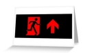Running Man Fire Safety Exit Sign Emergency Evacuation Greeting Card 96