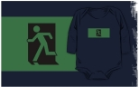 Running Man Fire Safety Exit Sign Emergency Evacuation Kids T-Shirt 1