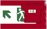 Running Man Fire Safety Exit Sign Emergency Evacuation Kids T-Shirt 101