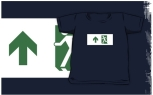 Running Man Fire Safety Exit Sign Emergency Evacuation Kids T-Shirt 103
