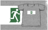 Running Man Fire Safety Exit Sign Emergency Evacuation Kids T-Shirt 104