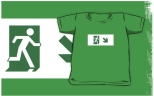 Running Man Fire Safety Exit Sign Emergency Evacuation Kids T-Shirt 106