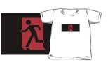 Running Man Fire Safety Exit Sign Emergency Evacuation Kids T-Shirt 113