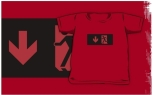 Running Man Fire Safety Exit Sign Emergency Evacuation Kids T-Shirt 114