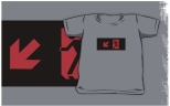 Running Man Fire Safety Exit Sign Emergency Evacuation Kids T-Shirt 115