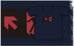 Running Man Fire Safety Exit Sign Emergency Evacuation Kids T-Shirt 116