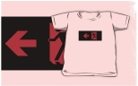 Running Man Fire Safety Exit Sign Emergency Evacuation Kids T-Shirt 117