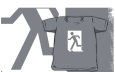 Running Man Fire Safety Exit Sign Emergency Evacuation Kids T-Shirt 124