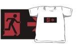 Running Man Fire Safety Exit Sign Emergency Evacuation Kids T-Shirt 125