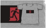 Running Man Fire Safety Exit Sign Emergency Evacuation Kids T-Shirt 127