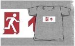 Running Man Fire Safety Exit Sign Emergency Evacuation Kids T-Shirt 16