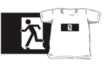Running Man Fire Safety Exit Sign Emergency Evacuation Kids T-Shirt 17