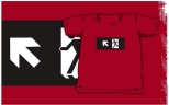 Running Man Fire Safety Exit Sign Emergency Evacuation Kids T-Shirt 20