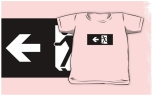 Running Man Fire Safety Exit Sign Emergency Evacuation Kids T-Shirt 21