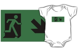 Running Man Fire Safety Exit Sign Emergency Evacuation Kids T-Shirt 22