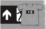 Running Man Fire Safety Exit Sign Emergency Evacuation Kids T-Shirt 23