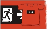 Running Man Fire Safety Exit Sign Emergency Evacuation Kids T-Shirt 29