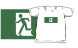 Running Man Fire Safety Exit Sign Emergency Evacuation Kids T-Shirt 31