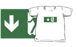 Running Man Fire Safety Exit Sign Emergency Evacuation Kids T-Shirt 32