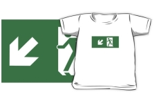 Running Man Fire Safety Exit Sign Emergency Evacuation Kids T-Shirt 33