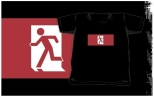 Running Man Fire Safety Exit Sign Emergency Evacuation Kids T-Shirt 36